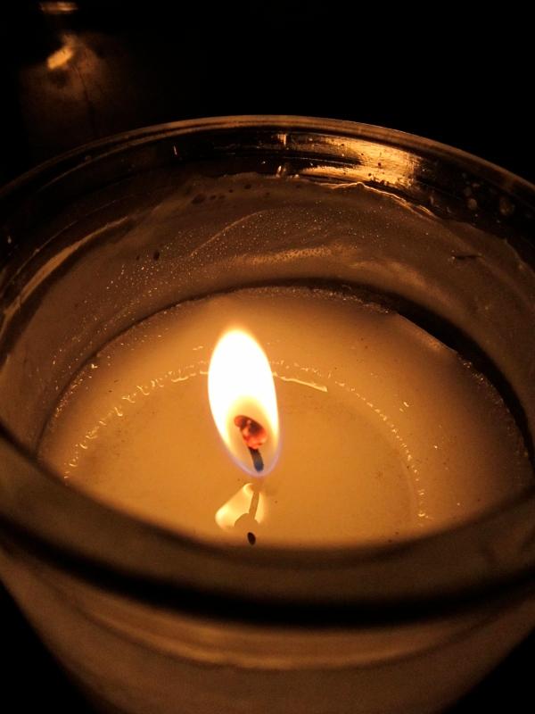 A candlelit night.