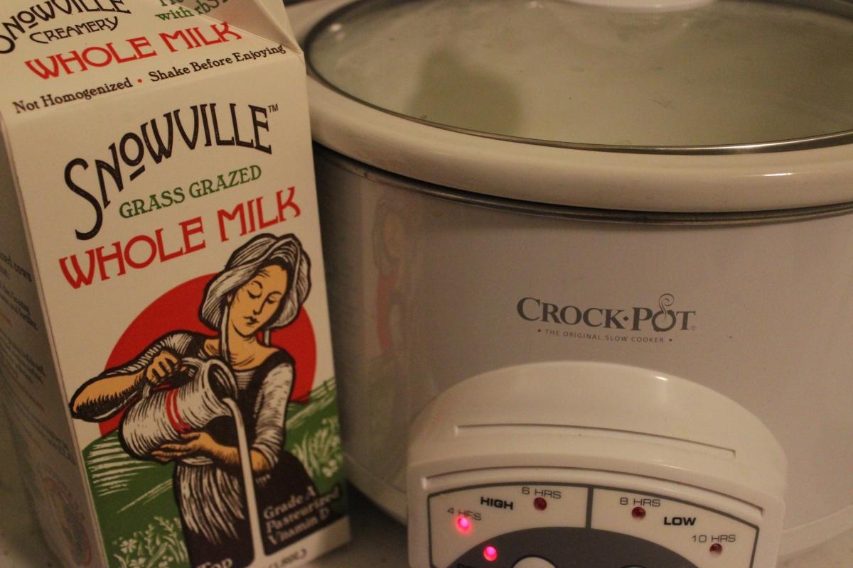 homemade yogurt in a crockpot  four steps  these light