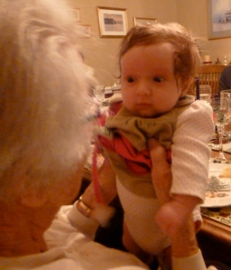 """A """"conversation"""" with great-grandma on Christmas."""