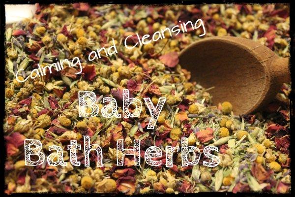 baby bath herbs