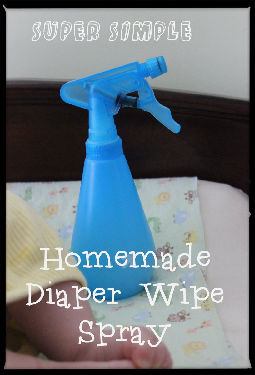 Super Simple DIY Diaper Spray