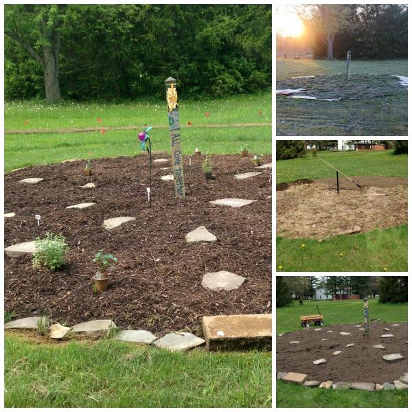Progress with the medicine wheel garden...